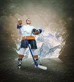 Hockey player — Stock Photo