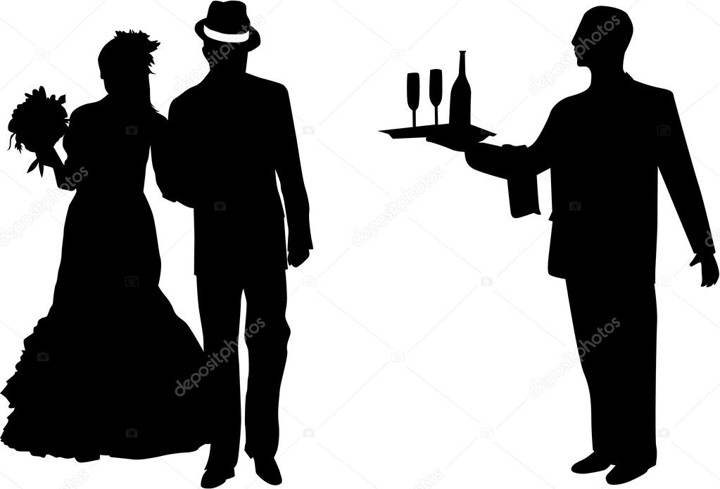 Married Couple - vector illustration   Stock Vector #14331349