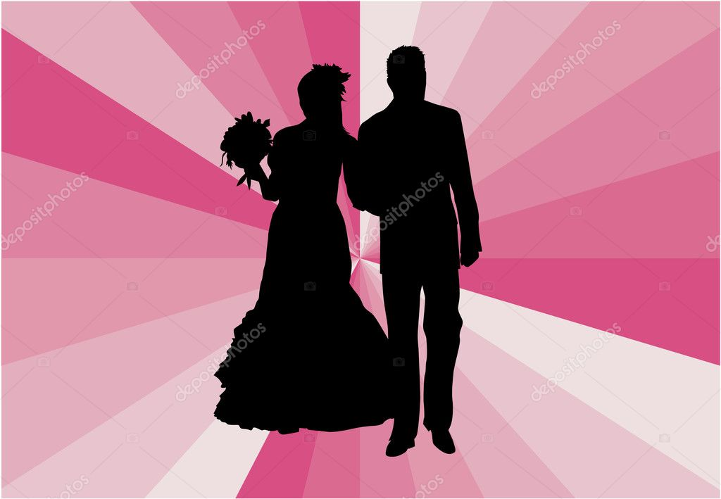 Married Couple - vector illustration — Stock Vector #14331551