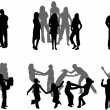 Royalty-Free Stock Vector Image: Silhouettes Of Parents With Children