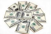 纸币的一百美元 — 图库照片