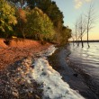 Waves of the lake at sunset2 — Stock Photo
