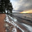 Waves of the lake at sunset 3 — Stock Photo