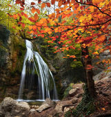 Waterfall in the autumn in the Crimea — Stock Photo