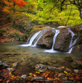 Waterfall in the autumn-5 — Stock Photo