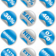 Collection of button — Stock Photo