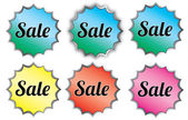 Sale Labels or Buttons — Stock Vector