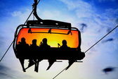 Orange cableway — Stock Photo