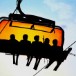 Stock Photo: Orange cableway