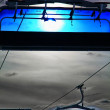 Blue cableway — Stock Photo #14382321