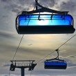 Blue cableway — Stock Photo #14382359