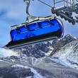 Blue cableway — Stock Photo #14382755