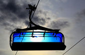 Blue cableway — Stock Photo