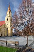 Square in city Zvolen, Slovakia — Stock Photo