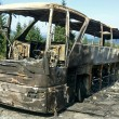 Stock Photo: Combusted bus