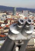 Telescope & Bratislava — Stock Photo