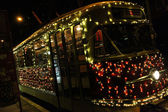 Old christmas tram — Stock Photo