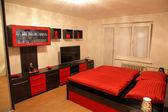 Modern furniture - bedroom — Stock Photo