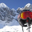 Skiing in High Tatras mountains — Stock Photo