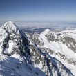 View from Lomnicky stit - peak in High Tatras mountains — Stock Photo