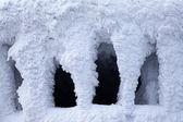 Gefrorene rotunde am berg chopok - niedere tatra-berge — Stockfoto