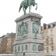 Statue of Guillaume II in Luxembourg — Stock Photo