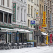 Snowy terrace in Antwerp — Stockfoto #23587363