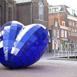 Stock Photo: Blue heart in Delft