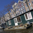 Amsterdam architecture from boat — Stock Photo