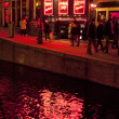 Red light district in Amsterdam - 图库照片
