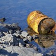Stock Photo: Oil barrel on water basin LiptovskMara