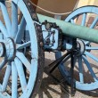 Blue cannon near palace Drottningholm, Stockholm  — Stock Photo