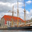 Old ship in Copenhagen, Denmark — 图库照片