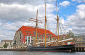 Old ship in Copenhagen, Denmark — Fotografia Stock