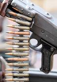 Velha arma da segunda guerra mundial — Foto Stock