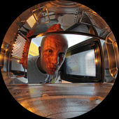 Inside microwave — Stock Photo