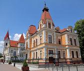 Building in town Trencianske Teplice, Slovakia — Stock Photo