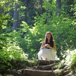 Stock Photo: Girl in forest