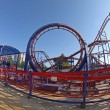 Stock Photo: Roller coaster at Sunny beach, Bulgaria