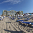 Stock Photo: Sandy beach at Sunny beach, Bulgaria