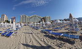 Sandy beach at Sunny beach, Bulgaria — Stock Photo