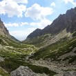 Mala studena dolina - valley in High Tatras, Slovakia — Stock Photo