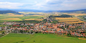 View from of Spis Castle, Slovakia — Stock Photo