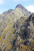 Lomnicky stit - peak in High Tatras, Slovakia — Stock Photo