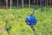 Blue ropeway at Hrabovo near town Ruzomberok — Stock Photo