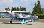 Historical soviet aircraft YAK-3 — Stock Photo
