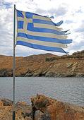 Greek flag — Stock Photo