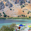 Lake Kournas at island Crete — Stock Photo