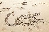 Kréta - puntík na pláži — Stock fotografie