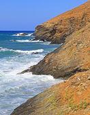 Stormy sea at Crete — Stock Photo